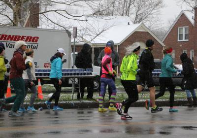 Hydrating runners and cyclists through sun, rain or snow!