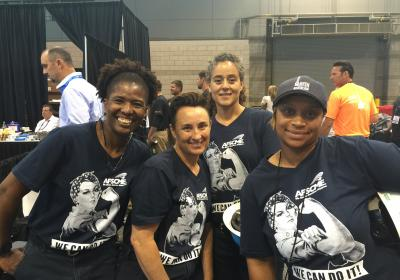 Women's Tapping Team Shows Chicago How It's Done