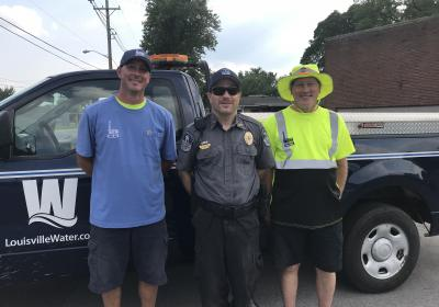 Kitten trapped in fire hydrant rescued by Louisville Water and Metro Animal Services workers