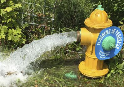 Why is the fire hydrant running water?