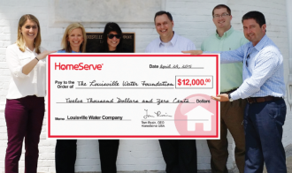 HomeServe USA Donation Benefits Louisville Water Foundation