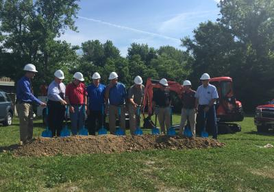 Hardin County Water District No. 1 breaks ground for a pipeline to connect to Louisville Water Company