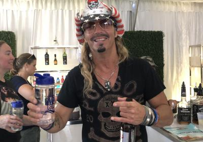 Bret Michaels enjoys Louisville pure tap® at Hometown Rising