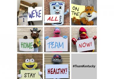 Mascots promote a healthy community