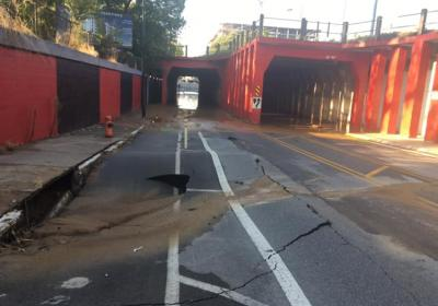 Water main break near University of Louisville causes traffic detours